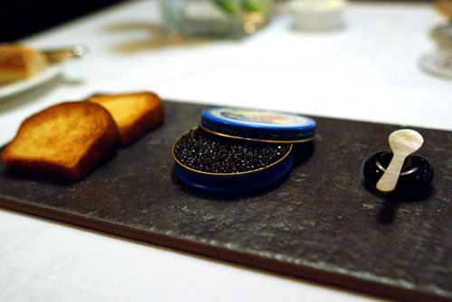 A Tin of Sin: American Ossetra Caviar with a Crab and Cucumber Rillette