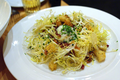 Salad Frisee, with Lardons, Poached Egg