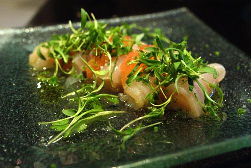 Ceviche de Marlin Azul con Toronja y Coriandro