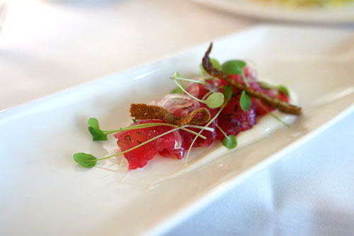 Beet Cured Japanese Fluke