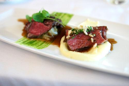 Horseradish Dusted Short Ribs and Hanger Steak