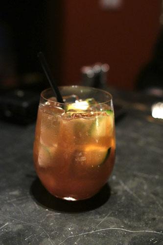 Hennessey, Crème De Cassis, Gin, Cucumber