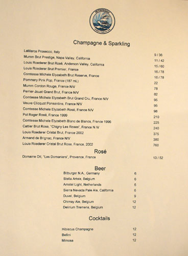 Petrossian Wine List