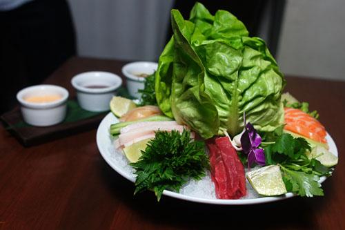 'sashimi wraps'
