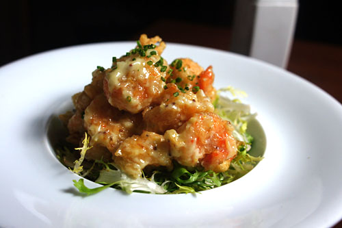 black tiger prawn tempura