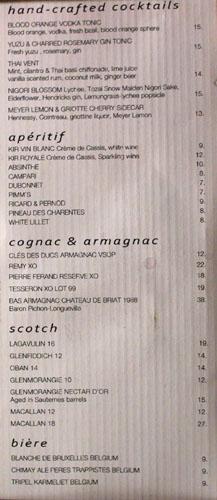 Marché Moderne Drink List