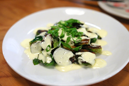 Brussels sprouts, hollandaise