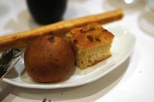 Black Tea Bread, Olive Focaccia