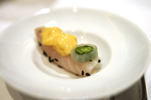 Rice Wine Marinated Shima Aji
