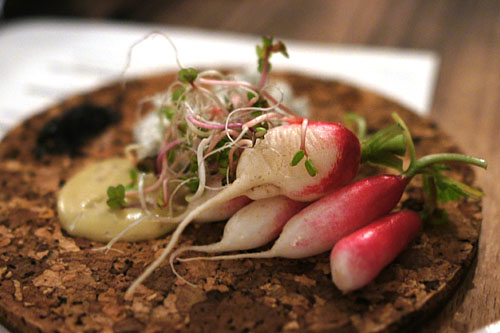 crunchy 'french breakfast' radishes