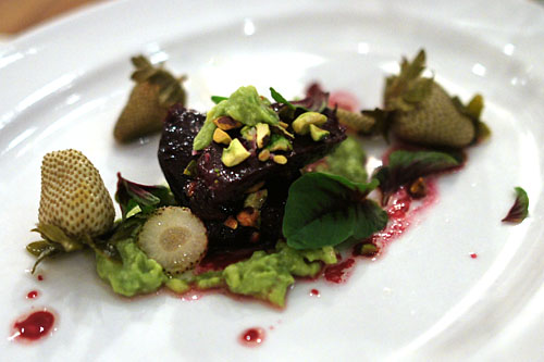 'FORONO' BEET BAKED IN A ROSE GERANIUM SALT CRUST