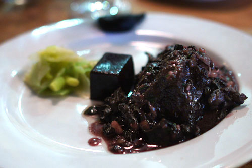 ... Beef Cheeks, Escargot Red Wine Butter, Leek Salad, Roasted Eggplant