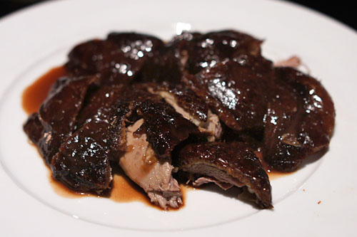 Whole Roasted Duckling 'Peking Style' with Traditional Garnishes