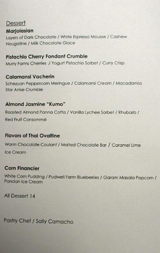 WP24 Dessert Menu