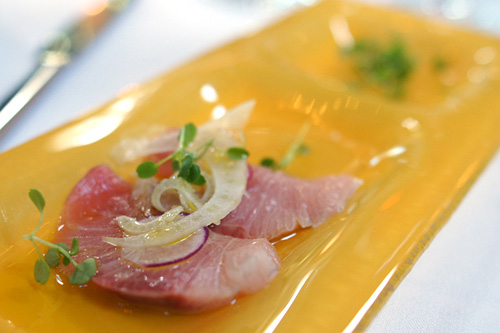 Sashimi of Japanese Hamachi