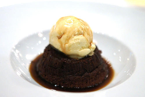 Chocolate Soufflé Cake Affogato