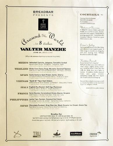 Walter Manzke Hatchi Menu