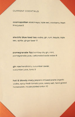 Volt Current Cocktails