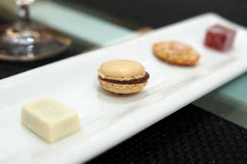 chocolates, candies, and macaroons