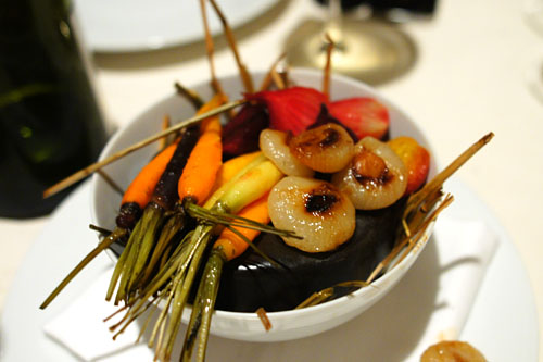 Summer Vegetables Roasted in Hay