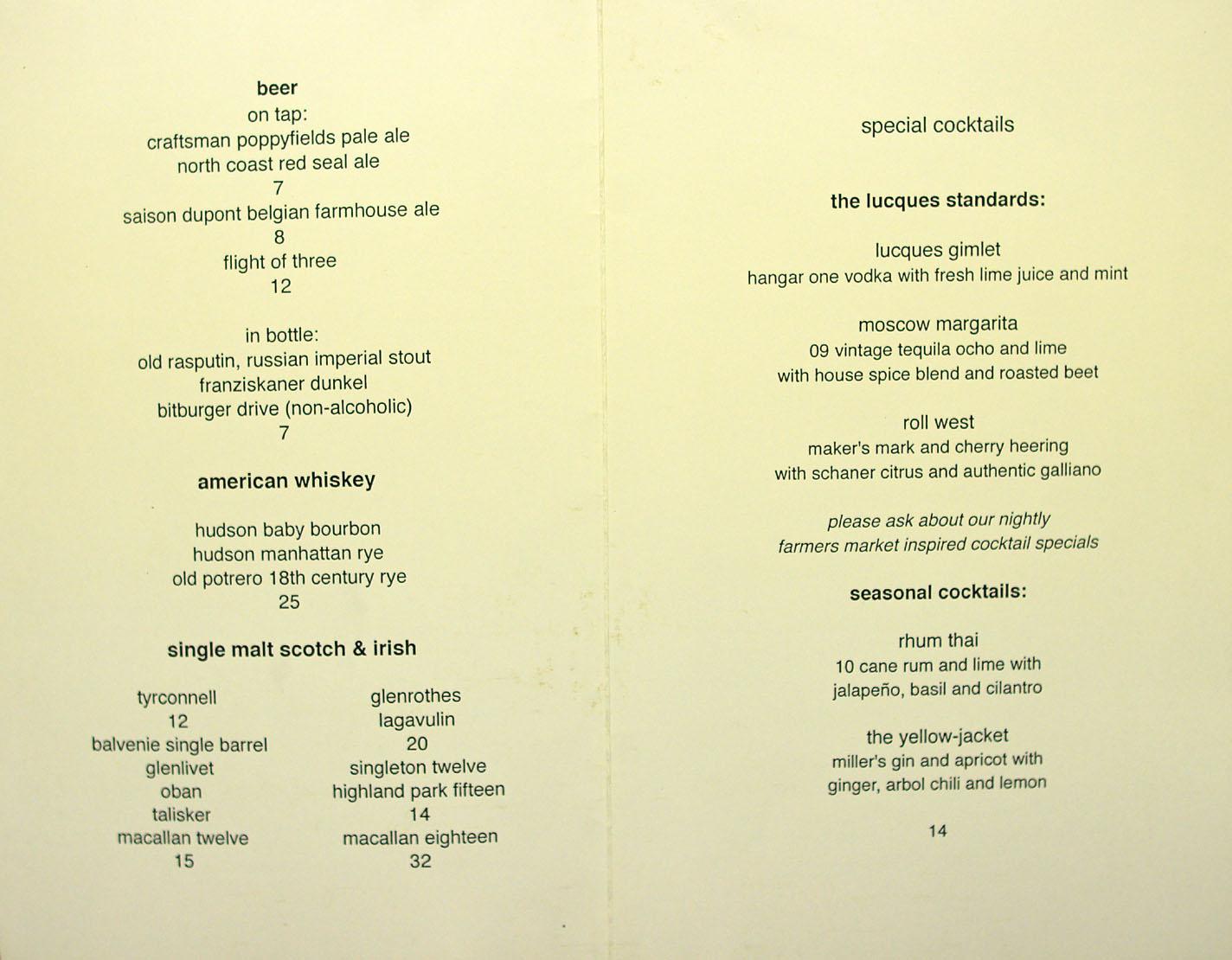 Olive Garden Restaurant Menus