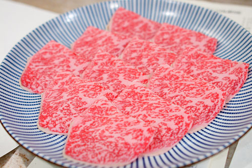 Premium wagyu beef (from Japan, grade A5)