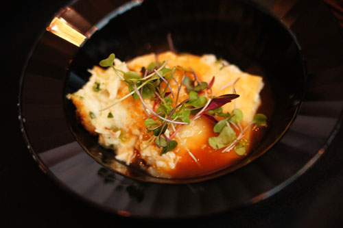 Crab Flan with Lobster Sauce