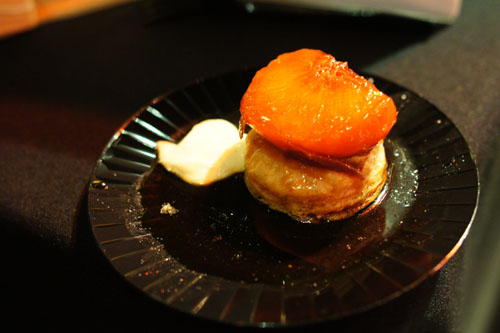 Peach Tart Tatin and Sauternes Sabayon