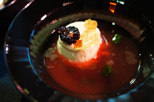 Panna Cotta with Watermelon Soup