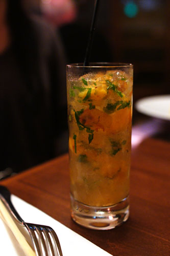 #3 - Redemption Rye 2yr, Luksusowa, Pickled Peaches, Lime, Mint, Ginger Beer