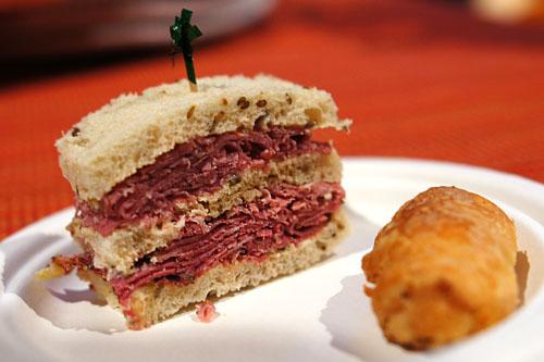 Pastrami Sandwich & Regulach