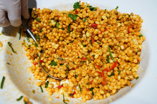 Israeli Couscous and Organic Corn Salad