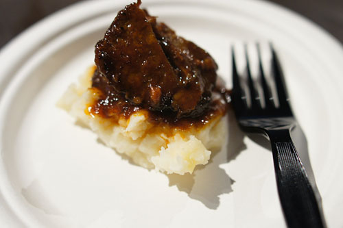 BBQ Beef Short Ribs with Grilled Corn Mashed Potatoes