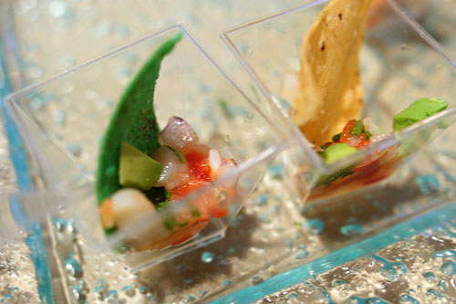 Shrimp Ceviche on Crostini