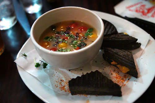 Hot Miso Soup, Cherry Tomato, Uni Black Panini
