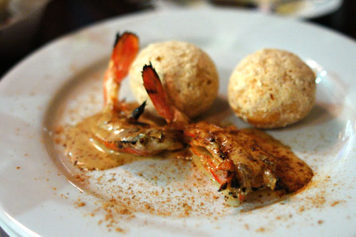 Santa Barbara Prawn, Cinnamon Beurre Blanc, Beignet, Shrimp Powdered Sugar