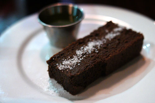 Chocolate Cake, Spicy Olive Oil