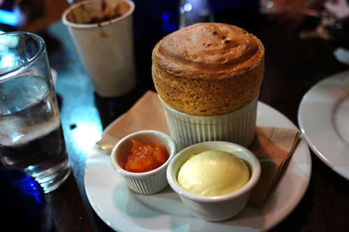 Caramel Souffle, Grapefruit Gelee, Fleur De Sel Ice Cream