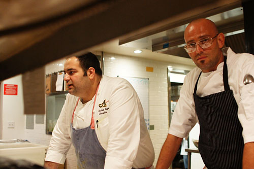 Chefs Vartan Abgaryan and Alex Reznik