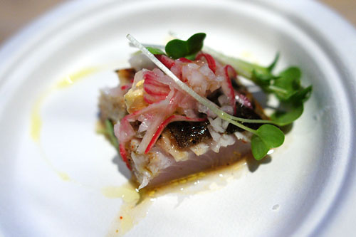 Grilled Mackerel with Radish