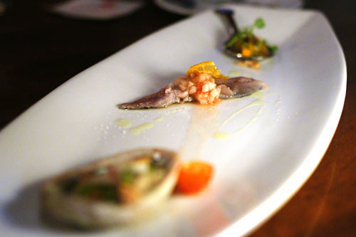 BAJA SEAFOOD AND FISH CRUDO SAMPLER