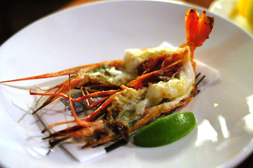 Santa Barbara Spot Prawns with Yuzu Kosho