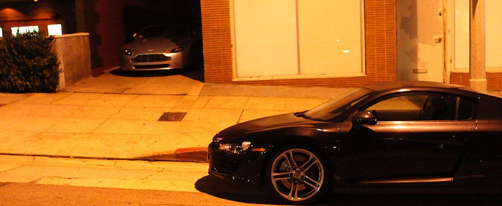 Aston Martin V8 Vantage Roadster, Audi R8