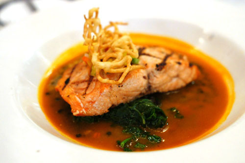 Pacific King Salmon, Bloomsdale Spinach, Carrot Mango Jus