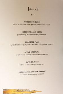 Scarpetta Beverly Hills Dessert Menu