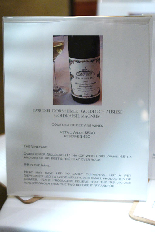 Silent Auction - 1998 Diel Dorsheimer Goldloch Auslese Goldkapsel Magnum
