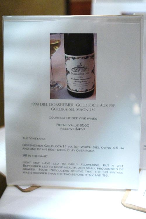 Silent Auction - 1998 Diel Dorsheimer Goldloch Auslese Goldkapsel Magnum