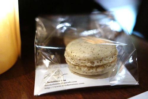 Earl Grey Salted Caramel Macaron