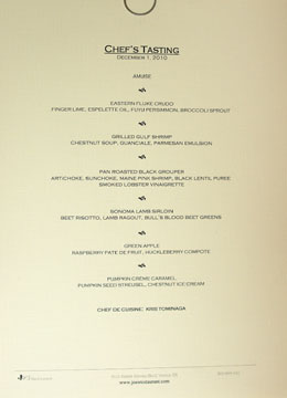 Joe's Chef's Tasting Menu