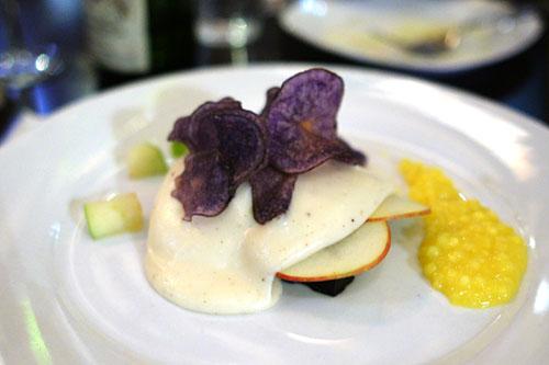Boudin Noir 'Parmentier', Apples, Mustard Tapioca